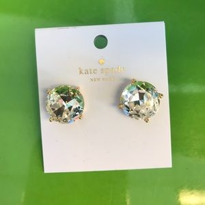 NWT clear Kate Spade studs